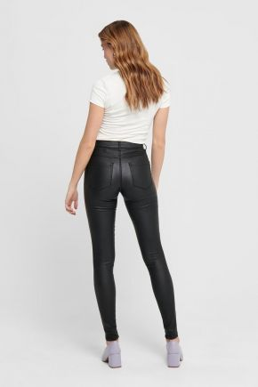 Jeans skinny fit a vita alta donna Nero Only