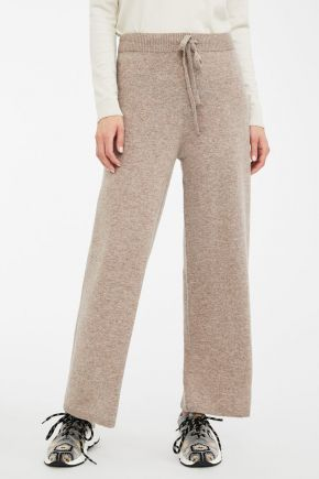 Pantaloni in filato di lana donna  Beige Weekend