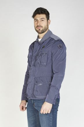 Giubbetto multi-pocket uomo Blu Blauer Usa