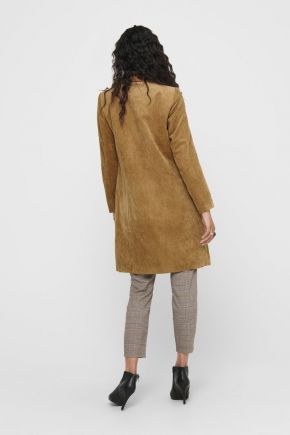 Cappotto in velluto donna Marrone Only