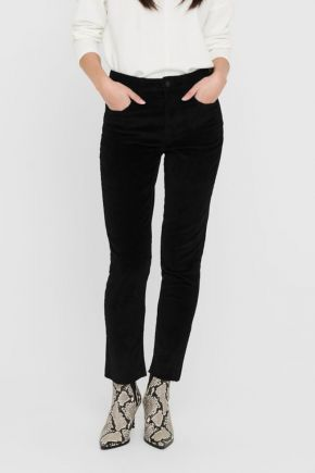 Pantaloni in velluto donna Nero Only