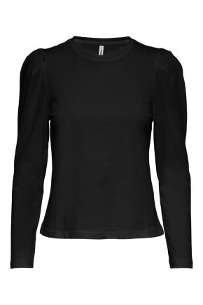 T-shirt con maniche a sbuffo donna Nero Only