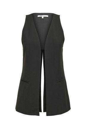 Gilet lungo donna Nero Only