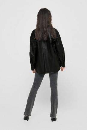Camicia in ecopelle donna  Nero Only