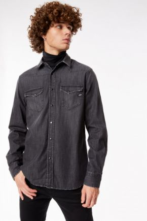 Camicia in jeans Kant uomo Nero Gas Jeans