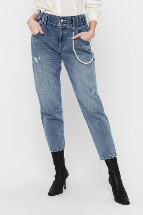 Jeans carrot straight fit a vita alta donna Denim Only