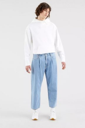 Jeans Stay Loose Pleated Crop Levi's® Uomo Azzurro Levi's