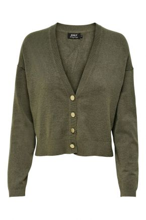Cardigan Loose fit in maglia Donna Verde oliva Only
