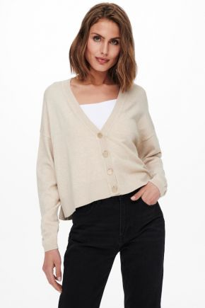 Cardigan Loose fit in maglia Donna Beige Only