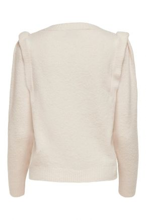 Pullover in maglia Donna Beige Only