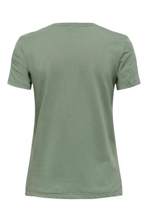 T-shirt in cotone organico Donna Verde oliva Only