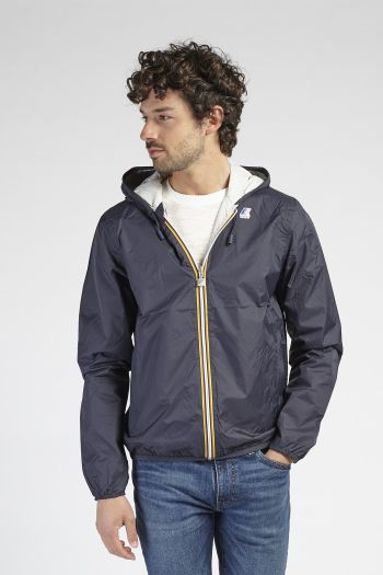 K-way double-face con cappuccio uomo Blu K-way