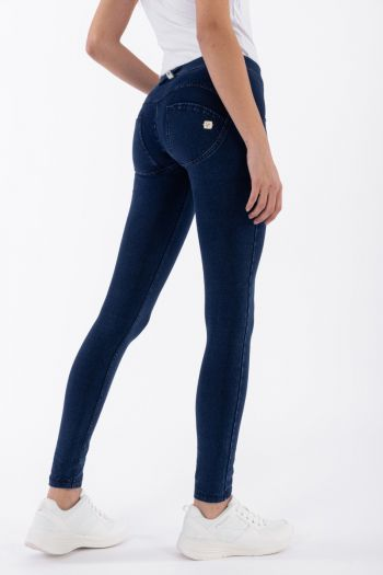 Pantalone WR.UP® skinny in denim scuro donna Blu Freddy