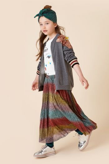 Gonna in lurex arcobaleno bambina Fantasia Dixie
