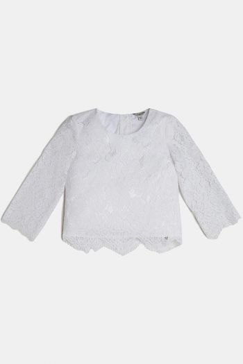 Camicia in pizzo bambina Bianco Guess
