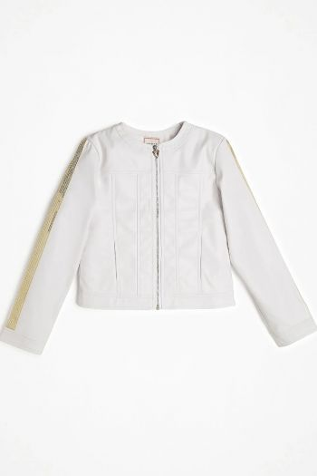 Giacca in semipelle bambina Bianco Guess