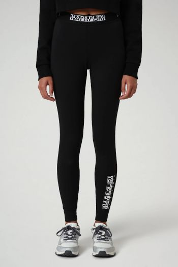 Pantaloni leggings box donna Nero Napapijri