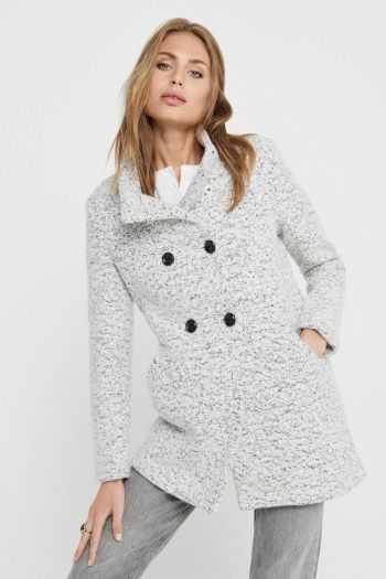Cappotto corto in lana donna Bianco Only
