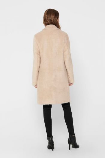 Cappotto classico soft donna Beige Only