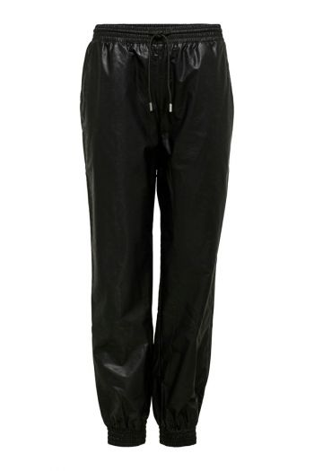 Pantaloni ecopelle donna Nero Only