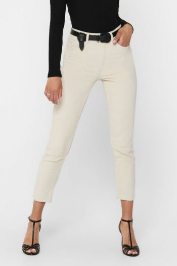 Pantaloni in velluto donna Bianco Only