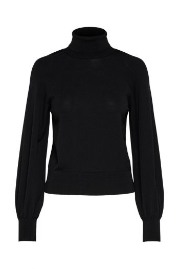 Pullover collo alto donna Nero Only