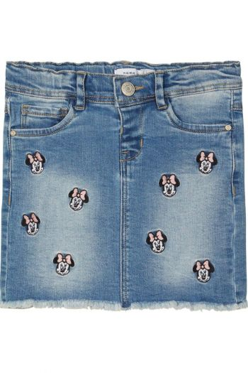 Gonna in denim di Disney Minnie Mouse bambina Denim Name It