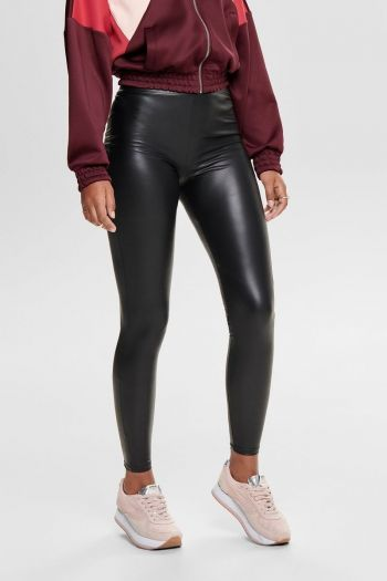 Leggings ecopelle donna Nero Only