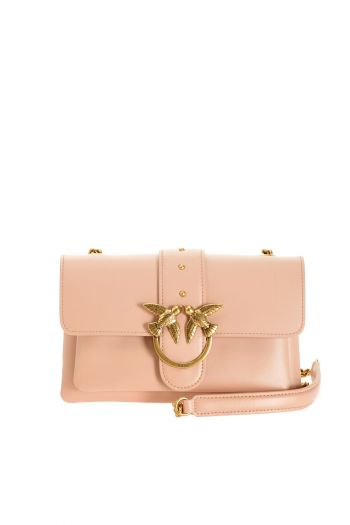 Mini Love bag soft in pelle bottalata donna Rosa Pinko