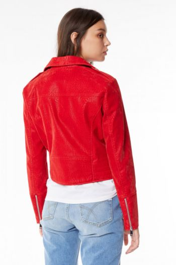 Giacca in ecopelle Sunday donna Rosso Gas Jeans