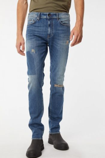 Jeans slim elasticizzati trama interna colorata uomo  Denim Gas Jeans