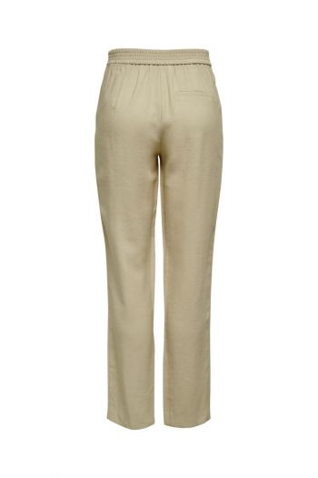Pantaloni con coulisse in vita donna Beige Only