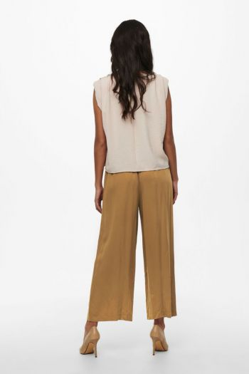 Pantalone wide fit donna Marrone Only