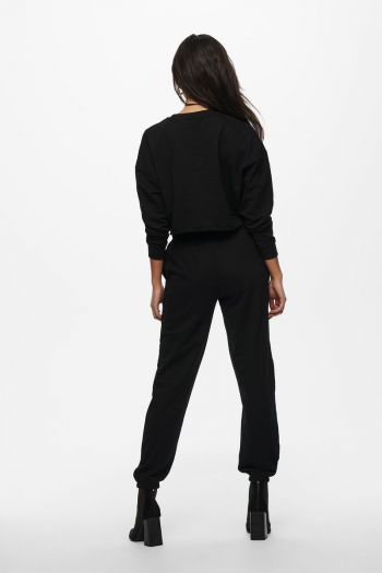 Felpa cropped donna Nero Only