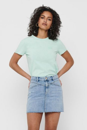 T-shirt in cotone organico Donna Verde Only