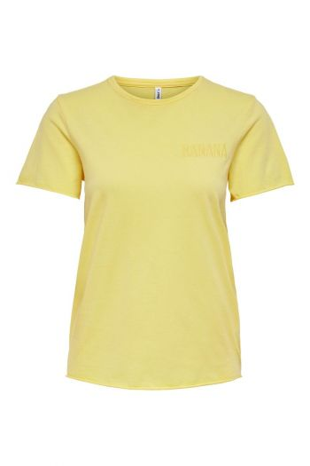 T-shirt in cotone organico Donna Giallo Only