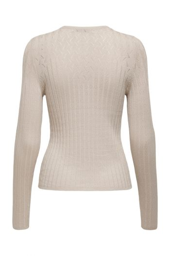 Maglia a coste donna Beige Only