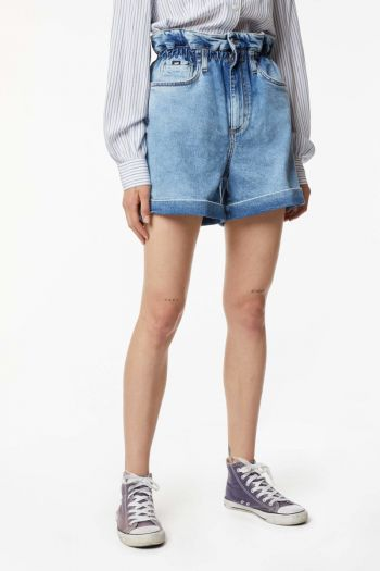 Short in jeans mom fit donna Denim Gas Jeans