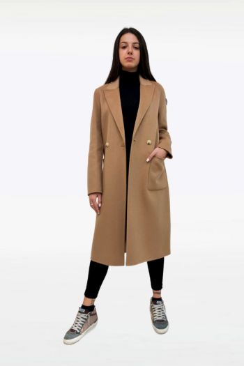 Cappotto slim con due bottoni donna Marrone Zara