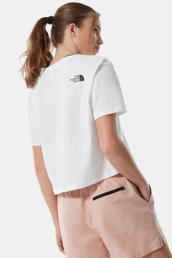 T-shirt Crop donna Bianco The North Face
