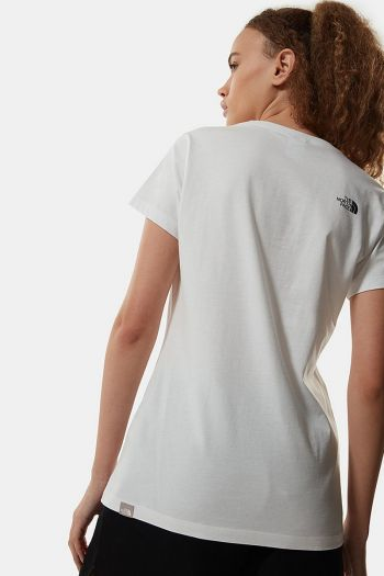 T-shirt easy donna Bianco The North Face