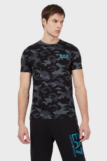 T-shirt in jersey camouflage uomo Fantasia Ea7