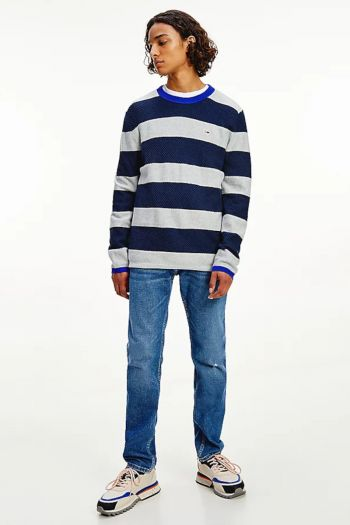 Pullover a righe uomo Blu Tommy Hilfiger Jeans