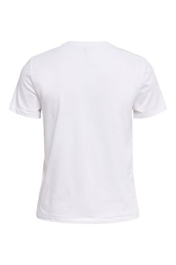 T-shirt in cotone organico Donna Bianco Only