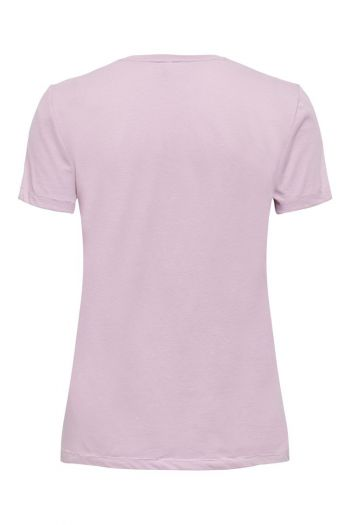 T-shirt in cotone organico Donna Rosa Only