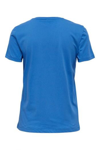 T-shirt in cotone organico Donna Blu Only
