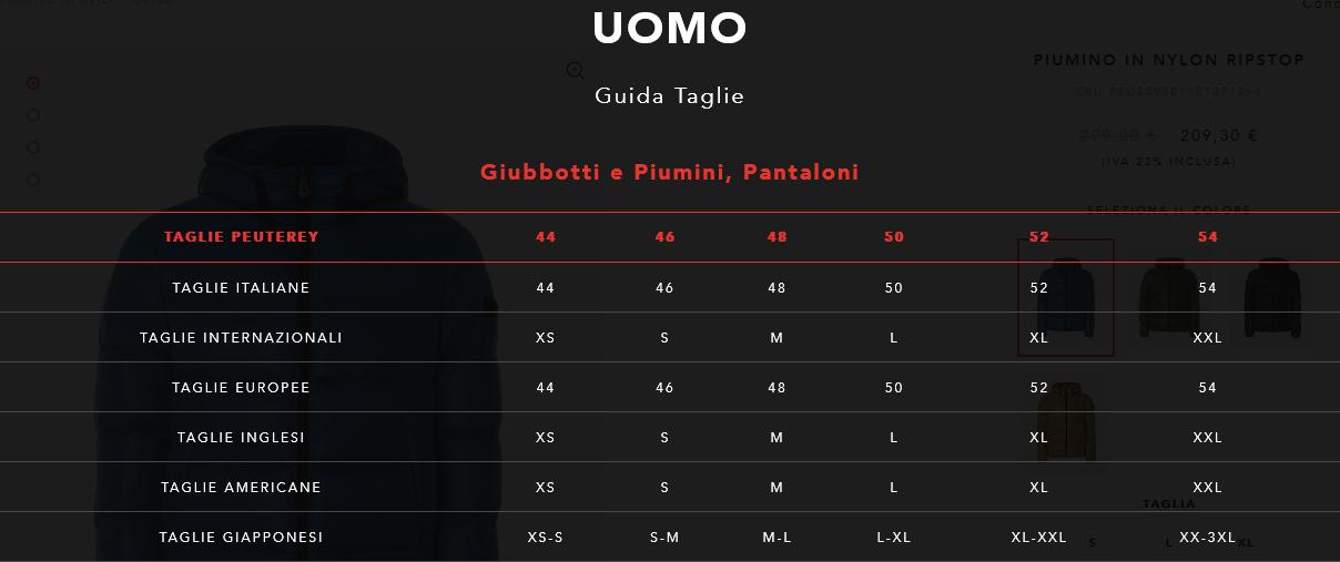 best sneakers 132f7 fd9f0 Guida Taglie Berton Magazzini